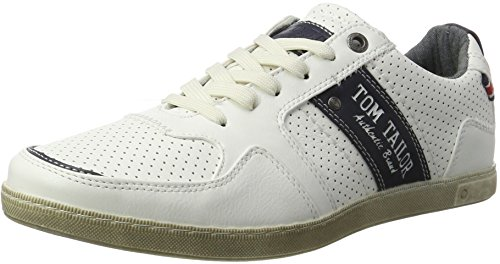 TOM TAILOR Herren 2789004 Sneakers, Weiß (White), 44 EU