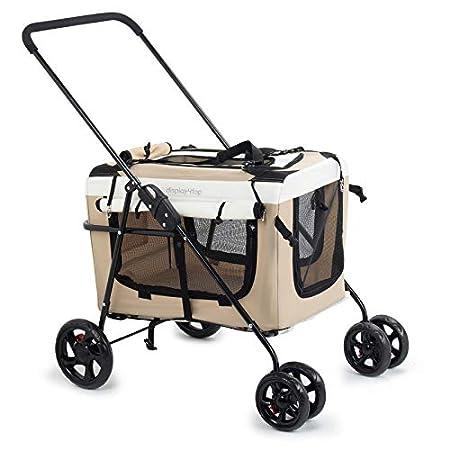 Display4top Haustier Reisen Kinderwagen Hund Katze Kinderwagen Kinderwagen Jogger Buggy mit Sperren Reißverschlüsse…