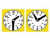 Lernuhren Set mit 10 Stück - Zeitgefühl Kinder Uhr Experimente ablesen experimentieren Uhrzeiten Zeitspannen Lernen Zeit einteilen Lernuhr Unterricht Mathematik Lehrmittel Schule Schüler