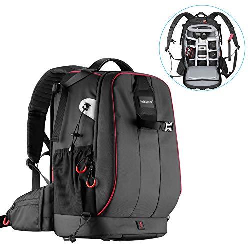 Neewer Pro wasserdicht stoßfest Verstellbarer gepolsterter Kamera Rucksack Tasche mit Diebstahlschutz Zahlenschloss für DSLR DJI Drone Stative Flash Objektiv und andere Zubehör -