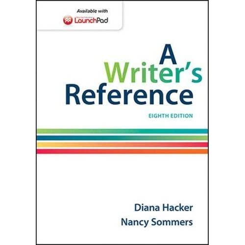 A Writer's Reference by Diana Hacker (2014-09-26)