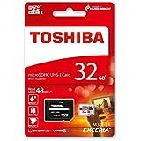 Toshiba Exceria M301 Carte mémoire microSDHC 32 Go (UHS-I, U1, Classe 10 - 2015 Version)