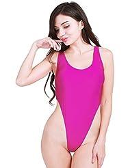 iEFiEL Bodies para Ballet Leotardos de Corte Alto para Mujer Monos de Gimnasia Danza Natación