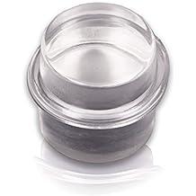Brinox B90230H - Tope metacrilato cilíndrico. Goma transparente, 3,3 x 3,2 x 3,2 cm, color transparente