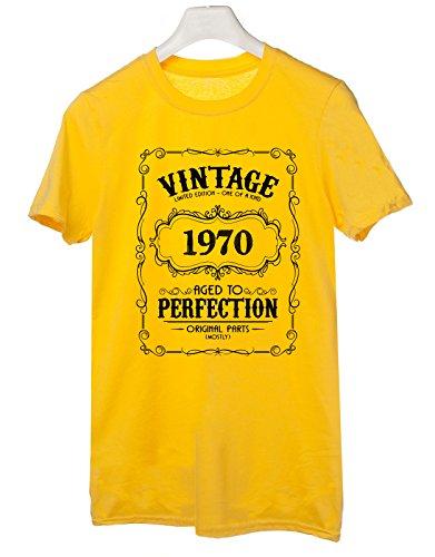 Tshirt Tshirt 1970 - idea regalo per compleanno - for birthday gift - - Tutte le taglie by tshirteria Giallo