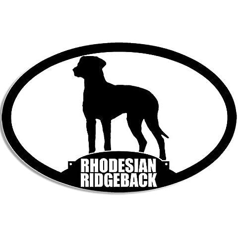 RHODESIAN RIDGEBACK adesivo ovale, motivo: cane razza)