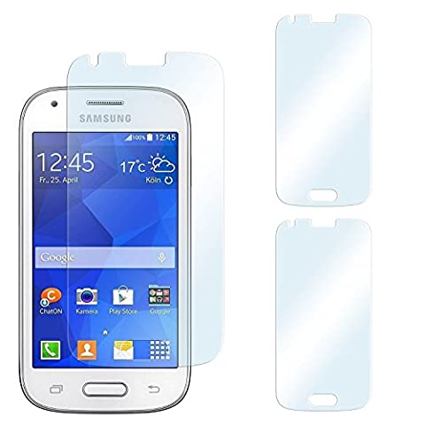 2x Samsung Galaxy Ace Style Schutzfolie Klar Display Schutz [Crystal-Clear] Screen protector Bildschirm Handy-Folie Dünn Displayschutz-Folie für Samsung Galaxy Ace Style