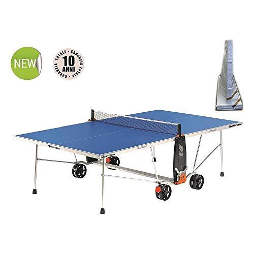 Cornilleu Challenger Outdoor e' un tavolo da ping pong che puo' essere lasciato all'esterno in qualsiasi condizione climatica. - Blu