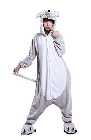 Honeystore Unisex Flannel Hoodie Pokemon Jumpsuit Maus Kostüm Pyjamas Schlafanzug M (Gute Halloween-kostüme Für Gruppe 3)