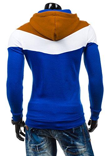 BOLF – Sweat-shirt à capuche – Pull de sport - STX RALPH – Homme Cobalt-Marrone