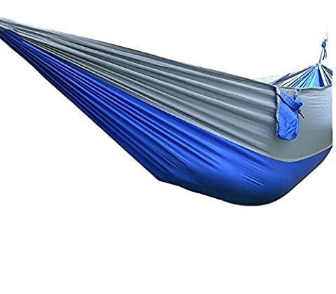 Camping and Leisure Widened Super Light Parachute Cloth Hammock Sapphire + Ash