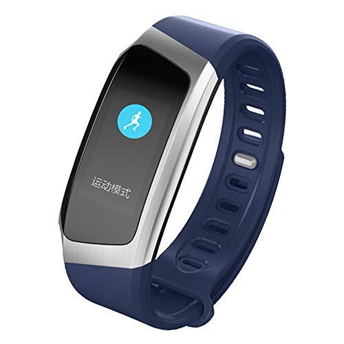 MSQL Fitness Tracker Farbbildschirm Smart Armband Herzfrequenz- und Schlafmonitor Wasserdichte Trainingsuhr für Android & iOS,Blue