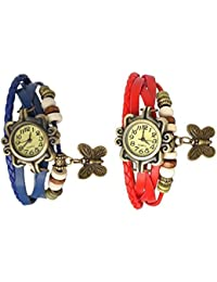 Elios Leather Bracelet Watch - Analog Display - Off White Dial - For Women (Buy One Get One Free)