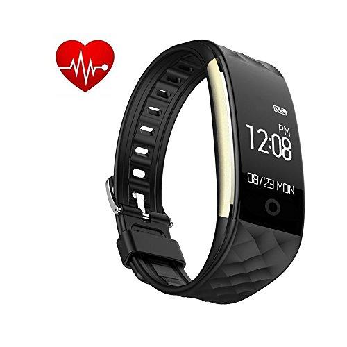 Tigerhu Fitness Armband, Wasserdicht IP67 Fitness Tracker Aktivitätstracker mit Pulsuhren, Schlafmonitor, Schrittzähler, Vibrationsalarm Anruf SMS Whatsapp Beachten kompatibel mit iPhone Android.