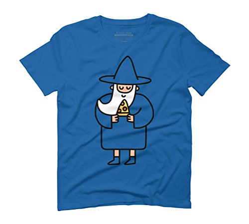 Wizard Pizza Men's Graphic T-Shirt - Design By Humans Royal Blue