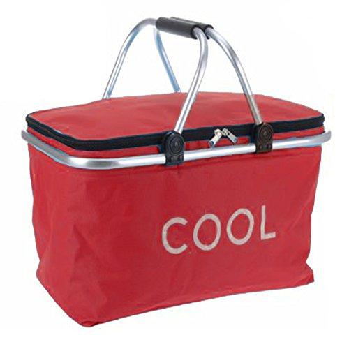 picnic-basket-cooler-bag-hamper-insulated-folding-tote-travel-35l-red