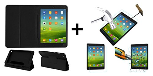 ACM Executive Case & Tempered Glass Combo for Xiaomi Mi-Pad Flip Cover Screen Guard Black