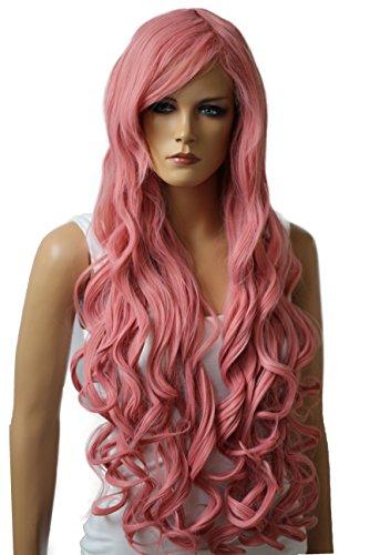 Prettyshop parrucca da donna fashion lunga 90cm hair ricci ondulati wavy  resistente al calore vari colori 1a8fe40131a9