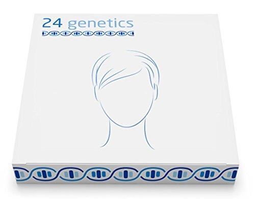 24Genetics - Hautpflege-DNA-Test - Genetischer Hauttest - Beinhaltet einen Tupfer-Sammelsatz für zu Hause