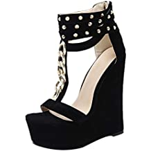 5TH Avenue Damen Schuhe, Pumps, Leder, schwarz,Größe 38,High