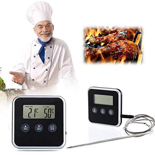 MG Universal Cooking Thermometer Timer LCD Digital Display Remote (Cooking Digitale Thermometer-timer)