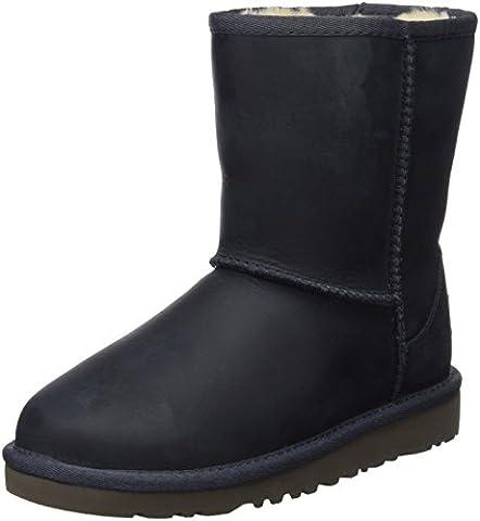 UGG Classic Short Leather, Unisex-Kinder Kurzschaft Stiefel, Blau (Peacoat), 36 EU