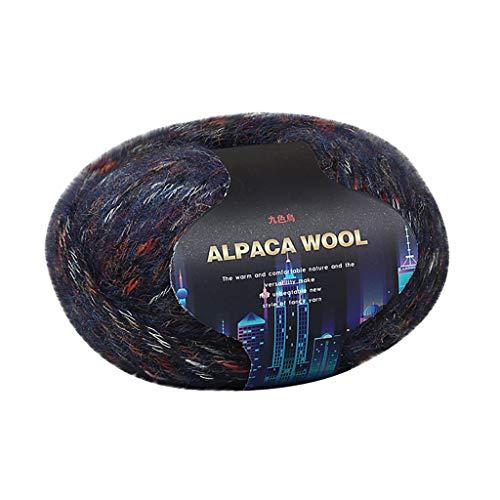 TwoCC-Wolle, unverzichtbare Packung mit weichen Wollknäueln-Buntes Alpaka aus dicker Wolle-ideal für jedes Strick-und Häkelprojekt