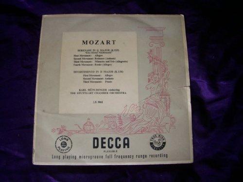 LX 3061 Mozart Serenade/Divertimento SCO Munchinger