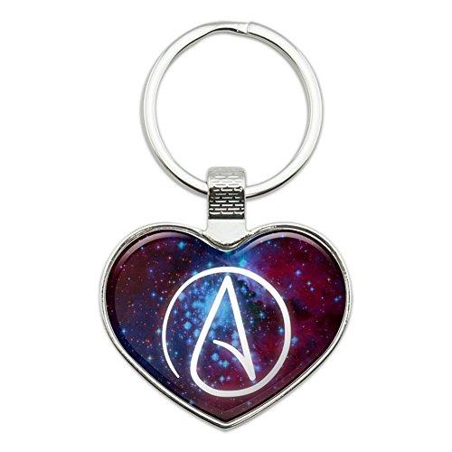 Atheist Atheismus Symbol in Space Herz Love Metall Schlüsselanhänger Ring