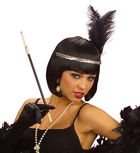 shoperama 20er Jahre Zigarettenspitze 34 cm lang schwarz Charleston Flapper Kostüm-Zubehör Damen The Roaring Twenties 20's (Roaring 20's Kostüm)
