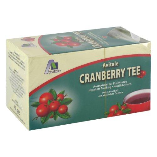 Avitale Cranberrytee, Filter, 20 St., 3er Pack (3 x 40 g) Tee-hibiscus Hagebutte