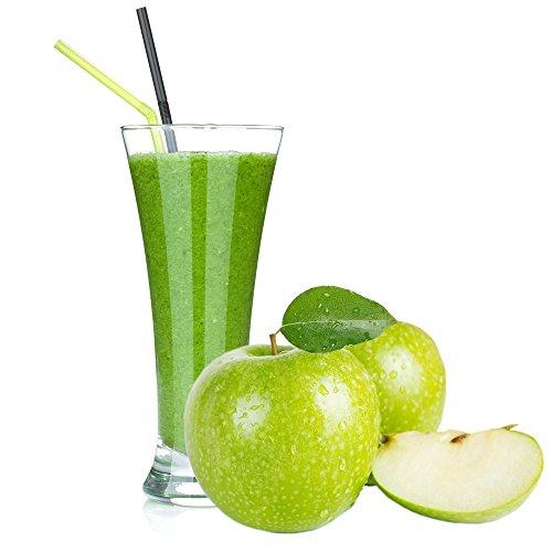 Grüner Apfel Geschmack Proteinpulver Vegan mit 90% reinem Protein Eiweiß L-Carnitin angereichert für Proteinshakes Eiweißshakes Aspartamfrei (1 kg)