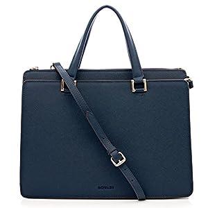 Blaue Leder Handtasche von Bovari, Victoria Bag, online kaufen