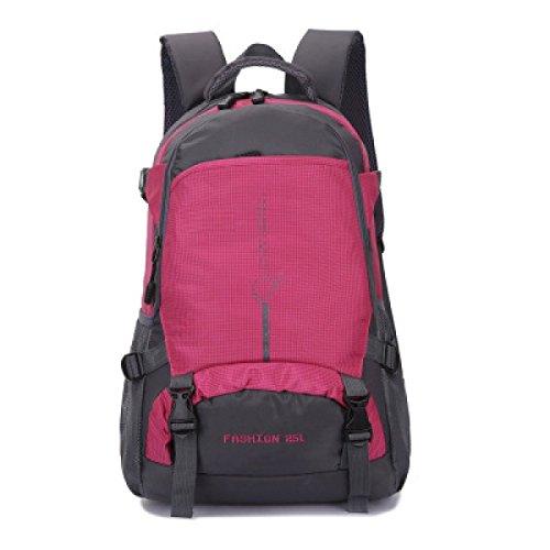 LQABW Outdoor-Nylon Wasserdichtes Haltbares Wandern Berg Beiläufige Reduziert Breath Rucksack Tasche Pink