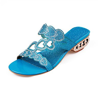 LvYuan Da donna-Sandali-Formale Casual-Altro Innovativo Club Shoes-Basso-Lustrini Materiali personalizzati-Blu Dorato Gold