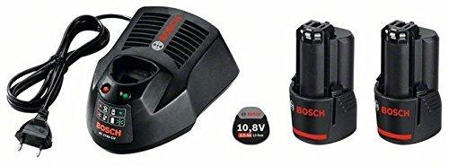 Preisvergleich Produktbild Bosch Professional 12V Akku Starter-Set (2 x GBA 2, 5 Ah Akkukapazität, Ladegerät AL 1130 CV, in Karton, kompatibel mit 10, 8V) 1600A004ZP