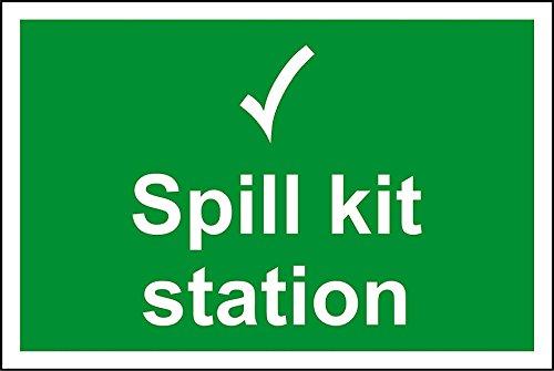 Spill-station Kit (Spill-Kit Station Sign-3mm Aluminium Schild 300mm x 200mm x 200mm)