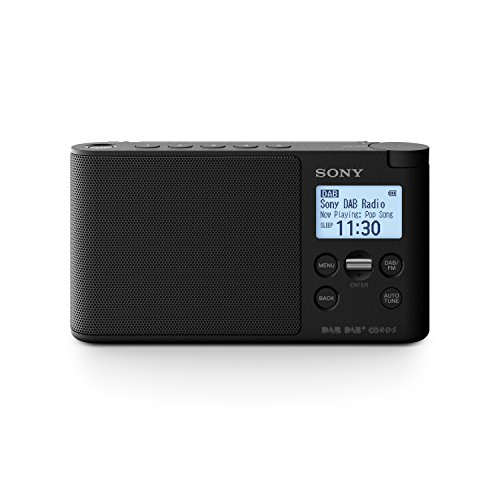 Sony XDRS41D tragbares Digitalradio (LCD-Display, Wecker, DAB, DAB+, FM (RDS), Timer-Weckfunktion) Schwarz (Wecker Sony)