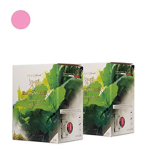 N. 2 bag in box rosato veneto igt - 5l - bassanese vini