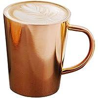 Edelstahl Kaffeetassen Kaffeebecher Coffee Cup Becher- 350ml Reisetasse, Doppelwandiger & Isolierter Metallbecher mit Griff - BPA-frei für Zuhause, Büro