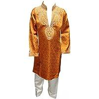 Ragazzi Arancione Sherwani Kurta salwar kameez Churidar
