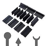 ZMW Tampone per levigatura 14 Pezzi Blocco di lucidatura Flessibile Profilo Tappetino in Carta vetrata in Gomma Nera