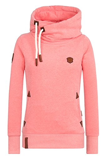 Naketano Female Hoody Darth Coral Red Melange, M