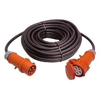 as - Schwabe 61028 CEE-Verlängerung 25 Meter H07RN-F 5G6, 400 Volt, 32 Ampere, 5polig, IP44 Aussenbereich