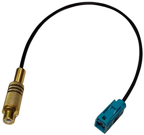 AERZETIX: Câble Adaptateur fiche FAKRA Vert Femelle RCA Femelle caméra de recul Video-in