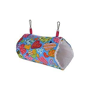 Welltobuy Vogel-Hängematten-Papageien-Hängematten-Haustier-Hängematten-Hamster-Tunnel-Spielzeug-Hängematte