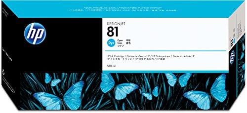 HP N°81 Cartouche d'encre d'origine Cyan C4931A