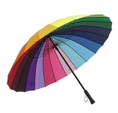 xiuxiandianju Gro?e Regenbogen-Hochzeit / Fotografen Golf-Regenschirm - Mehrfarbige 130cm - Fotografen Regenschirm Für