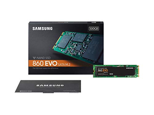 Samsung EVO M.2 - Disco Estado Solido SSD (500 GB, 550 megabytes/s) Color Negro