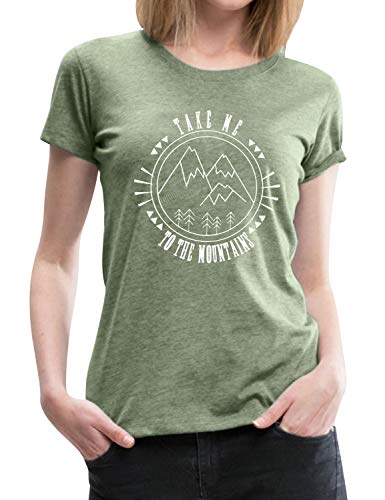 FromNlife Frauen T-Shirt Frauen lässig Wandern Graphic Top TAKE ME to The Mountain - Graphic Damen T-shirts Niedlich